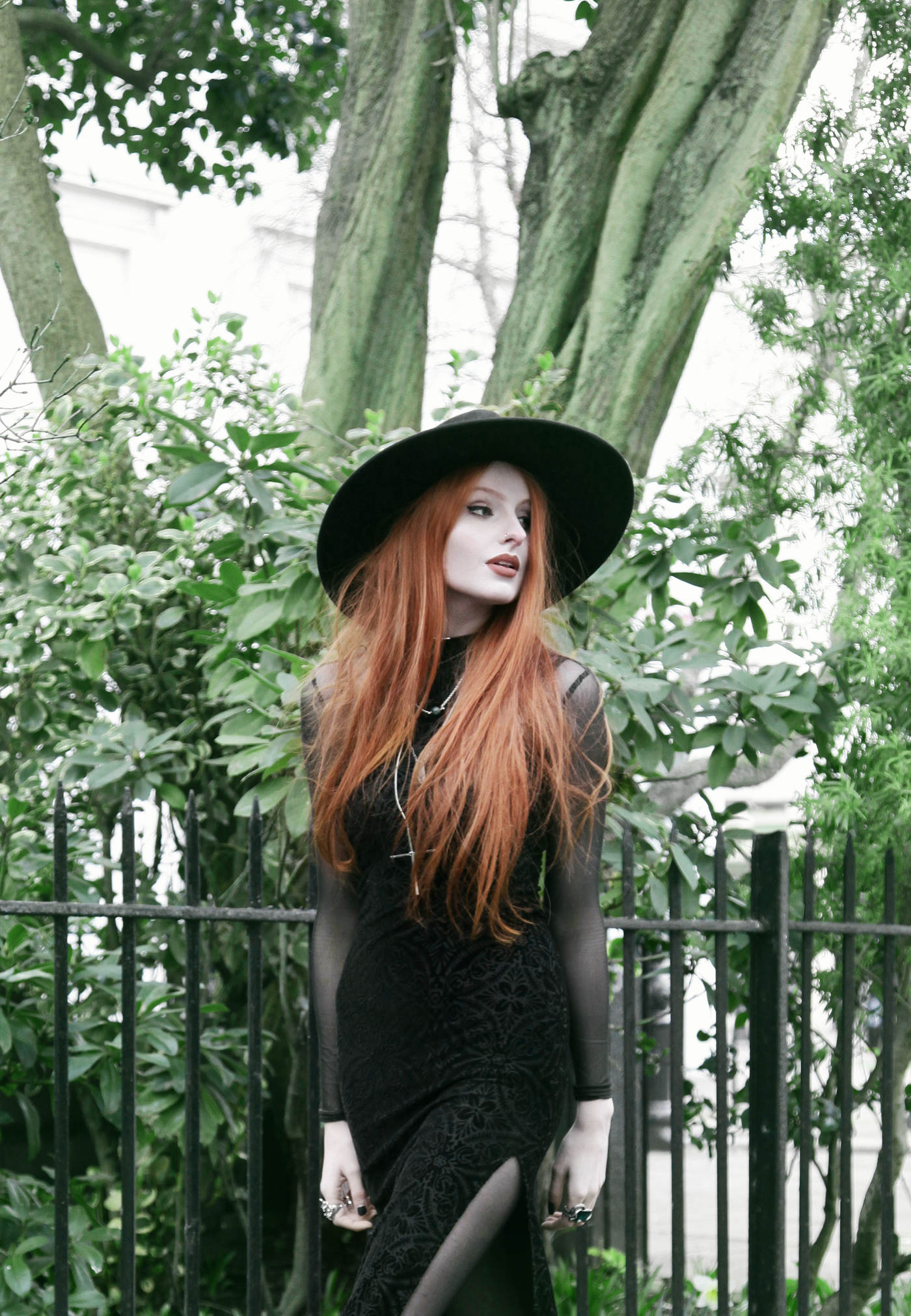 Olivia Emily wears Killstar Witch Brim Hat c7de8daad22