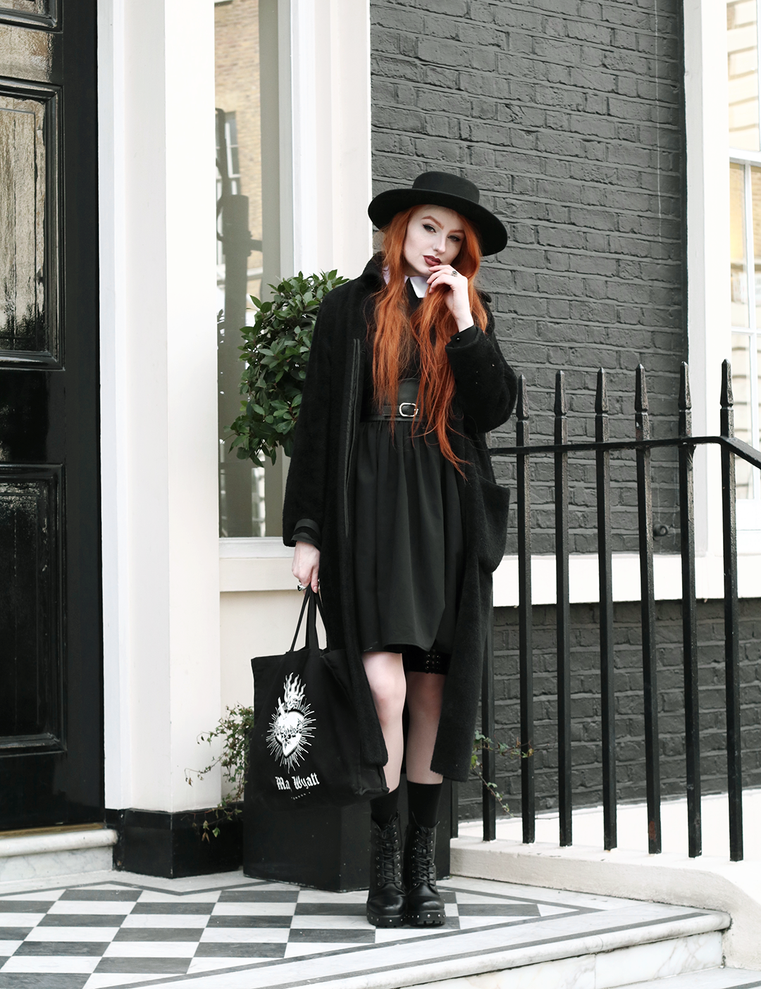 Olivia Emily styles up the Nosferatu Dress from the Deandri Cult Collection