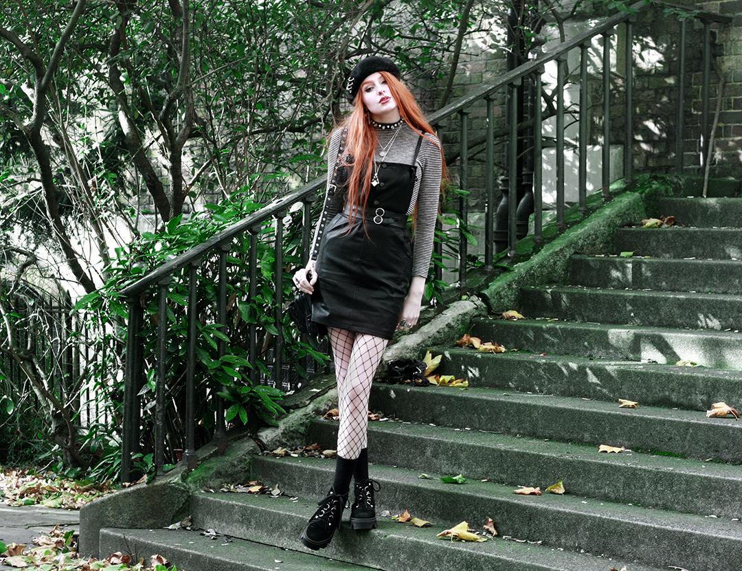 Olivia Emily - Dungaree dress styling